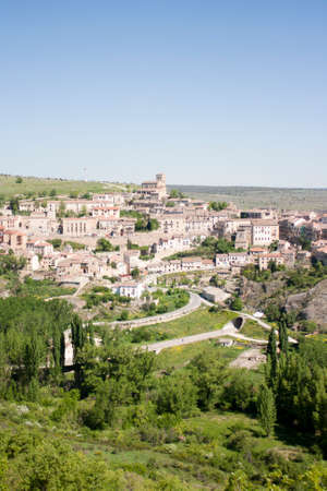 Panoramic view of Sepulveda village  Spain