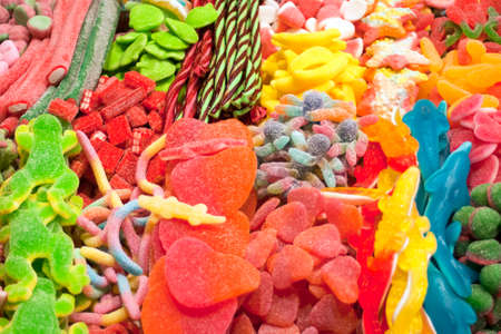 Mixed colorful candies Stock Photo