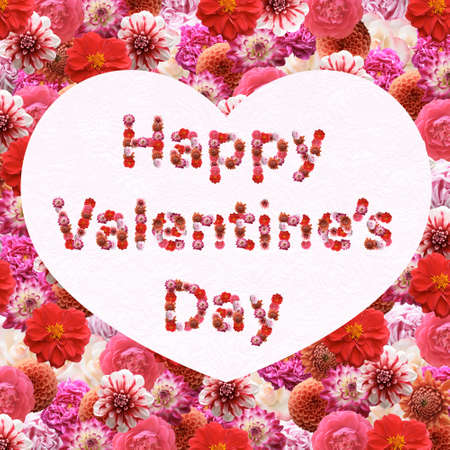 Happy Valentine's Day greeting card Stock Photo