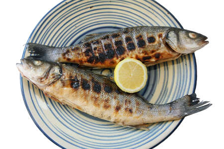 seabass: Cooked seabass