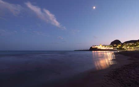 garraf: Garraf seascape at night Stock Photo