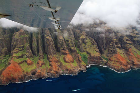 Aerial views Kauai island west coast photo