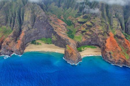 Aerial view of Napali coast, Kauai photo