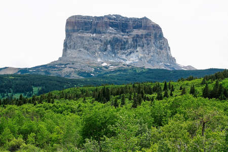 glacier national park: Mountain view to Glacier national park Stock Photo