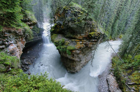 banff national park: Johnston canyon, Banff national park Stock Photo