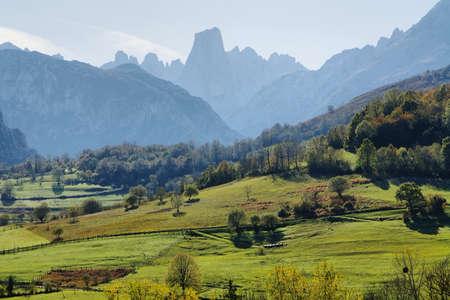 Naranjo de Bulnes wie Picu Urriellu in Asturien, Spanien bekannt Standard-Bild - 23636717