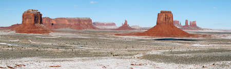 Monument Valley panorama in winter Stock Photo - 23732008