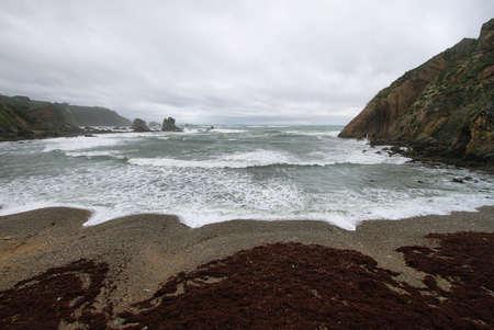 Beautiful beach of Silence, Asturias  Spain   photo