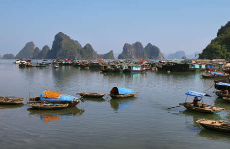 Picturesque sea landscape  Bai tu Long Bay, Vietnam