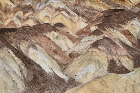Heavily Eroded Ridges in artist palette, Death Valley National Park, California, USA photo