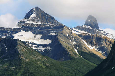 icefield: Majestic mountains view at columbia icefield area, jasper national park, alberta, canada Stock Photo