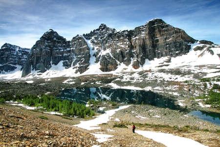 Eiffel Lake, Valley of the 10 Peaks, Banff National Park, Alberta, Canada Фото со стока