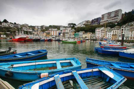 asturias: Colorist port of Luarca, Asturias Spain