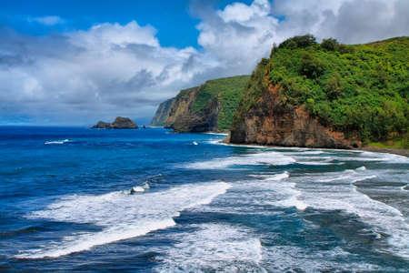valley view: Vista Pololu Valley a Big Island, Hawaii