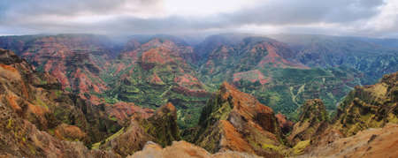 Amazing  panorama of Waimea Canyon in Kauai, Hawaii Islands