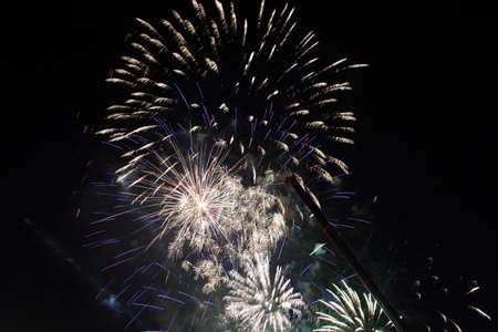 Fireworks for new year s 2014 spectacle in Barcelona photo