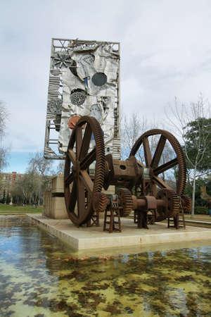 clave: Commemorative sculpture for centenary of universal exposition in Barcelona, Ciutadella park, Barcelona  Editorial