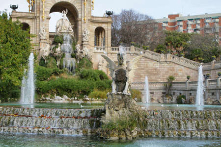 Fountain in Ciutadella park, Barcelona  photo
