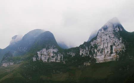 ha giang: Mountains view at Ma pi leng pass in Ha giang province, Vietnam  Stock Photo