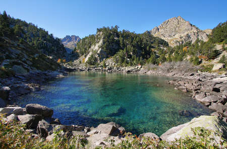 Gerber lake in Aigestortes national park, Catalonia, Spain photo