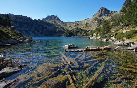 Gerber lake in Aig�estortes national park, Catalonia, Spain photo