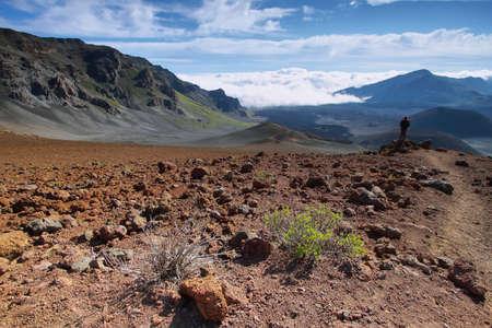 caldera: Caldera of the Haleakala volcano in Maui island, Hawaii