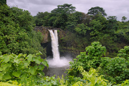 Rainbow Falls in Big Island, Hawaii photo