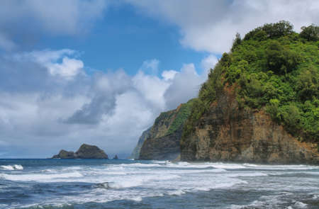 Pololu Valley view in Big island, Hawaii photo
