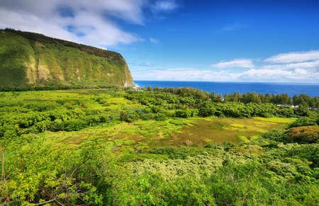Waipio Valley view in Big island, Hawaii photo