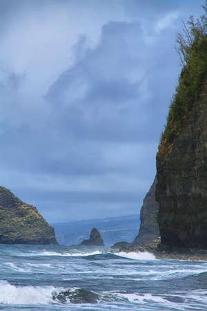Pololu Valley view in Big island, Hawaii photo