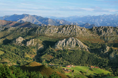 Viewpoint of Fito, view of the Picos de Europa  Asturias, Spain