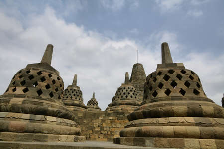 Borobudur Temple in the morning. Yogyakarta, Java, Indonesia. photo