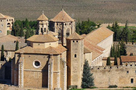 Monastery of Poblet, Spain - This Cistercian abbey in Catalonia is one of the largest in Spain. At its centre is a 12th-century church. photo