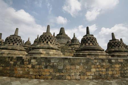 Borobudur Temple in the morning. Yogyakarta, Java, Indonesia. photo