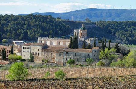 Monasterio de Santes Creus en Cataluña, España Foto de archivo - 27461181