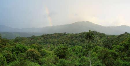 isidro: Landscape of ecuadorian cloudforest from San Isidro cottages, Ecuador