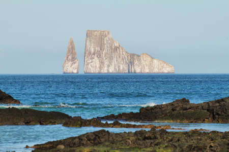 Kicker Rock (Leon dormido) in San Cristobal island, Galapagos, Ecuador Stock Photo