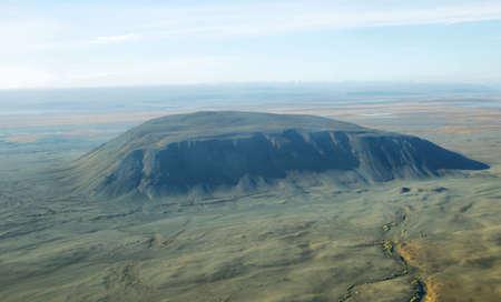 highland region: Aerial view of volcanic landscape in Iceland Highland region