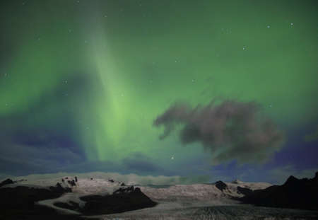 magnetosphere: Aurora borealis or the northern lights in Iceland