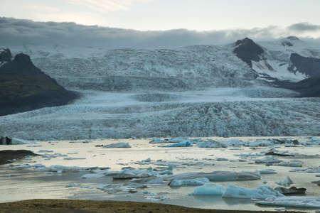 fjallsarlon: Fjallsarlon glacier iceberg lagoon in Vatnajokull National Park, Iceland