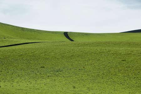 highlands: Volcanic landscape in Lakagigar, Iceland highlands Stock Photo