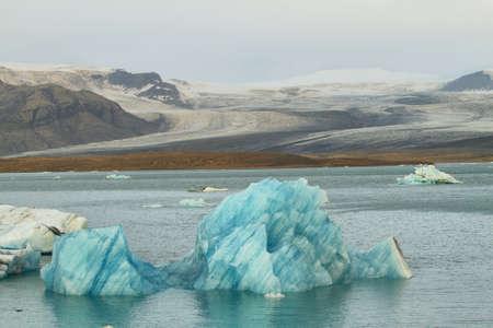 glacial: Jokulsarlon Glacial Lagoon of Vatnajokull glacier, Iceland