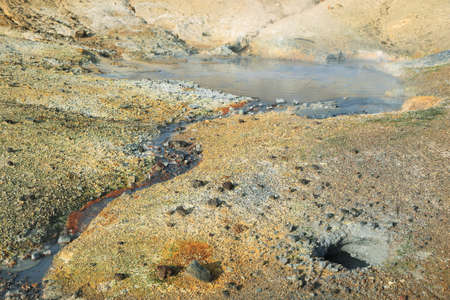 natural force: Seltun geothermal area in Reykjanes peninsula, Iceland