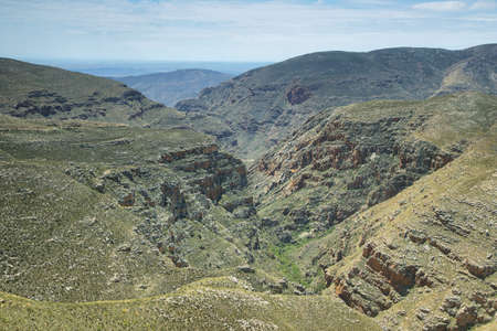 inhospitable: Redish gorge in Swartberg pass, South Africa