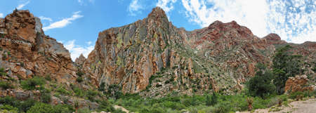 redish: Majestic rocky redish mountains in Swartberg pass, South Africa