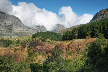wellington: Colorful mountain landscape near Wellington, South Africa