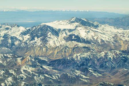 high plateau: Aerial andean landscape of Antofagasta region, Chile Stock Photo