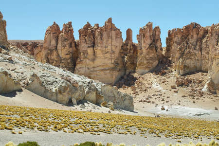 tara: Rock cathedrals in Salar de Tara, Chile