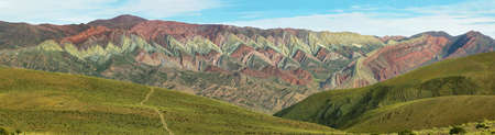 multi national: Multicolored mountain known as Serrania del Hornocal, Jujuy province, Argentina