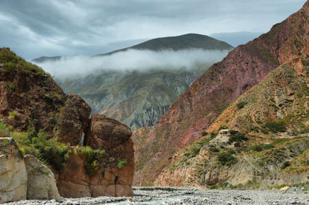 Multicolored mountains between Iruya and San Isidro villages, Salta province, Argentina
